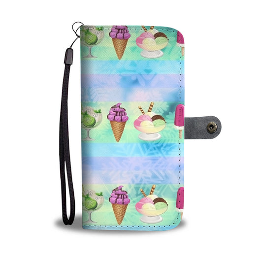 Custom Phone Wallet Available For All Phone Models Ice Cream 2 Phone Wallet - STUDIO 11 COUTURE