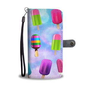 Custom Phone Wallet Available For All Phone Models Ice Cream 3 Phone Wallet