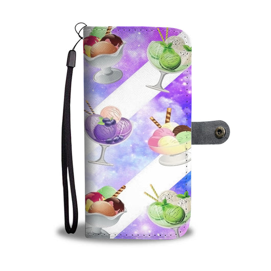 Custom Phone Wallet Available For All Phone Models Ice Cream 6 Phone Wallet - STUDIO 11 COUTURE