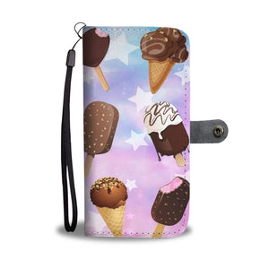 Custom Phone Wallet Available For All Phone Models Ice Cream 9 Phone Wallet