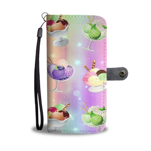 Custom Phone Wallet Available For All Phone Models Ice Cream 10 Phone Wallet