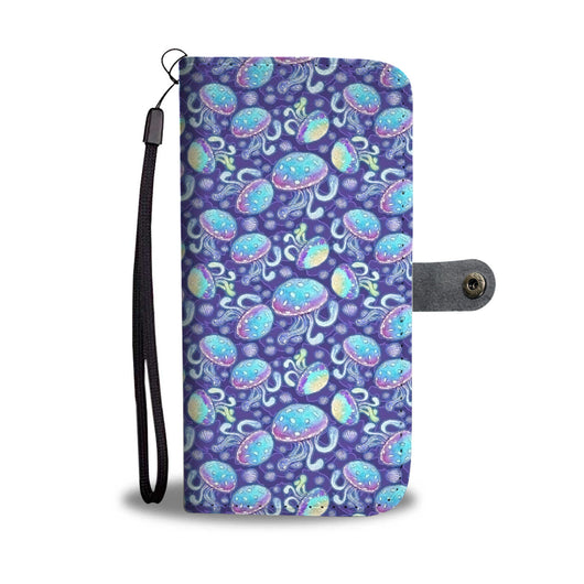 Custom Phone Wallet Available For All Phone Models Mermaid Jelly Fish Phone Wallet - STUDIO 11 COUTURE