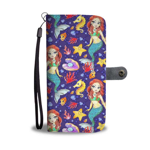 Custom Phone Wallet Available For All Phone Models Mermaid Sirens Phone Wallet
