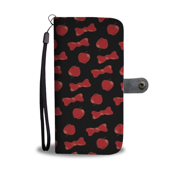 Custom Phone Wallet Available For All Phone Models Snow White Apple and Bow Phone Wallet