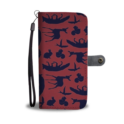 Custom Phone Wallet Available For All Phone Models Snow White Woodland Creature Phone Wallet - STUDIO 11 COUTURE