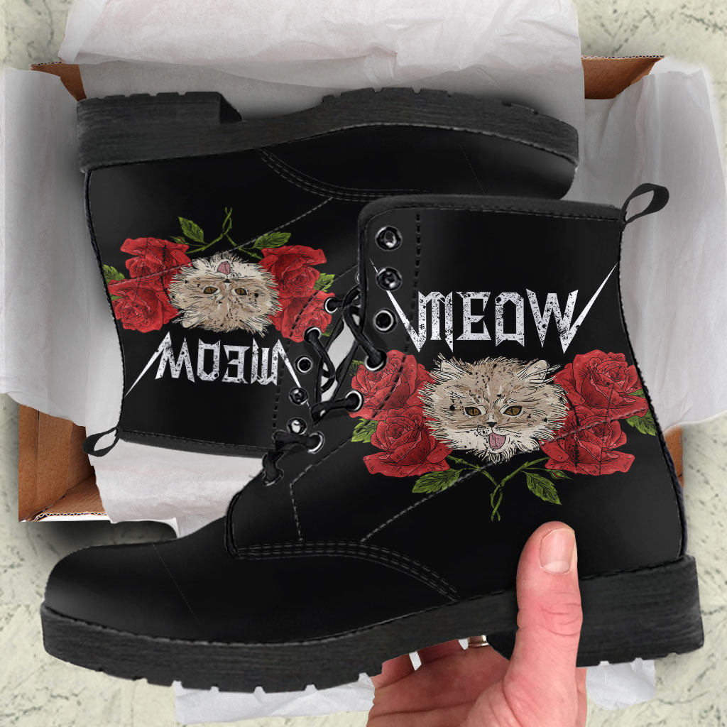 Meow Womens Leather Boots - STUDIO 11 COUTURE