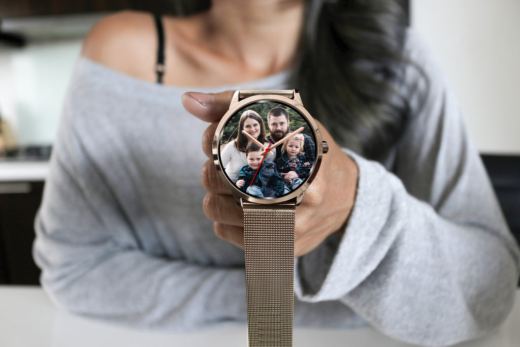 Custom Design Your Own Family Watch S3 Rose Gold With Your Personal Memory Photo