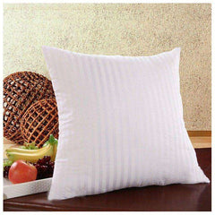 Striped Square Pillow Inner Cushion Insert 17.7 x 17.7 inches.  Fit Our Pillow Cases.