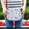 Image of Alice Shrink Bottle Crossbody Shoulder Canvas Leather Saddle Bag