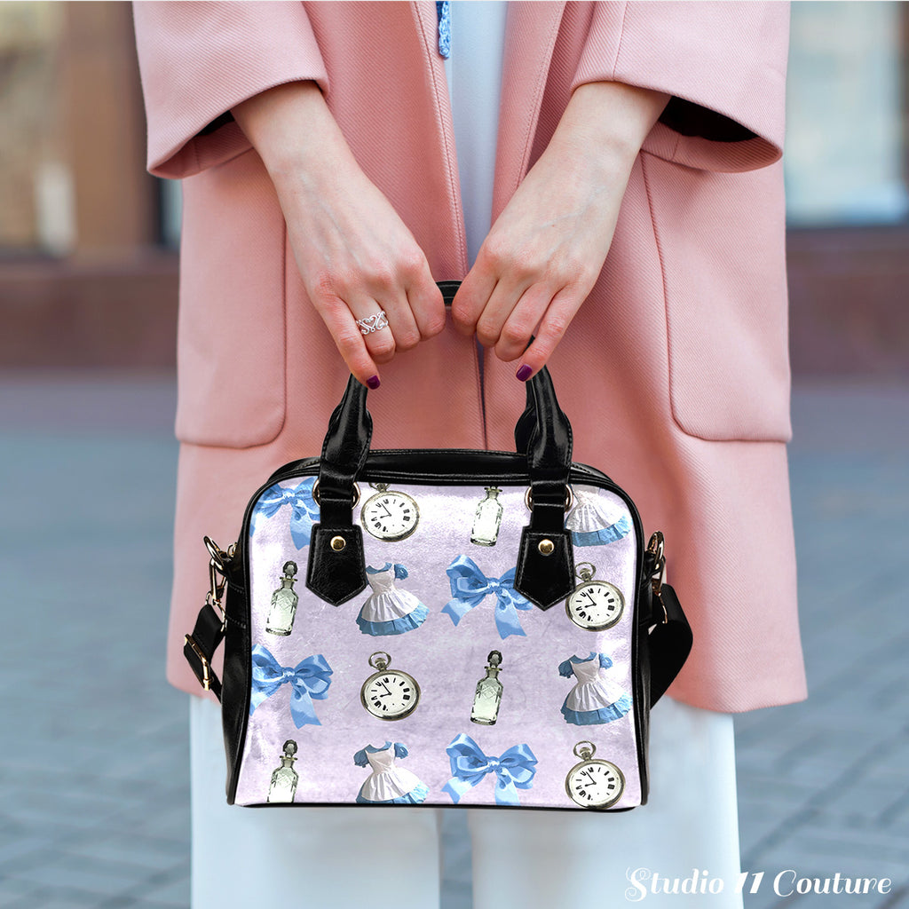 Alice In Wonderland Alice Paper 1 Shoulder Handbag - STUDIO 11 COUTURE