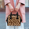 Image of Animal Prints Giraffe Theme Women Fashion Shoulder Handbag Black Vegan Faux Leather