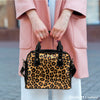 Image of Animal Prints Leopard Theme Women Fashion Shoulder Handbag Black Vegan Faux Leather