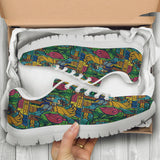 Beauty And The Beast Stained Glass Womens Athletic Sneakers