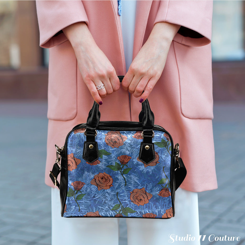 Beauty And The Best  Frosted Rose Shoulder Handbag