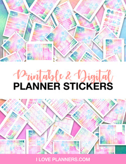 LIMITED TIME PRE-SALE SPECIAL - PLANNER STICKER BLANKS BUNDLE - PASTEL WATERCOLOR - QUICKLY MAKE PLANNER STICKERS IN NO TIME
