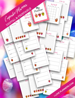 Cupcake Digital Planner and Journal/ GoodNotes, Xodo, Digital Journal, iPad Planner, tablet Planner Digital Planner Stickers