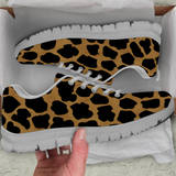 Cheetah Skin Womens Athletic Sneakers