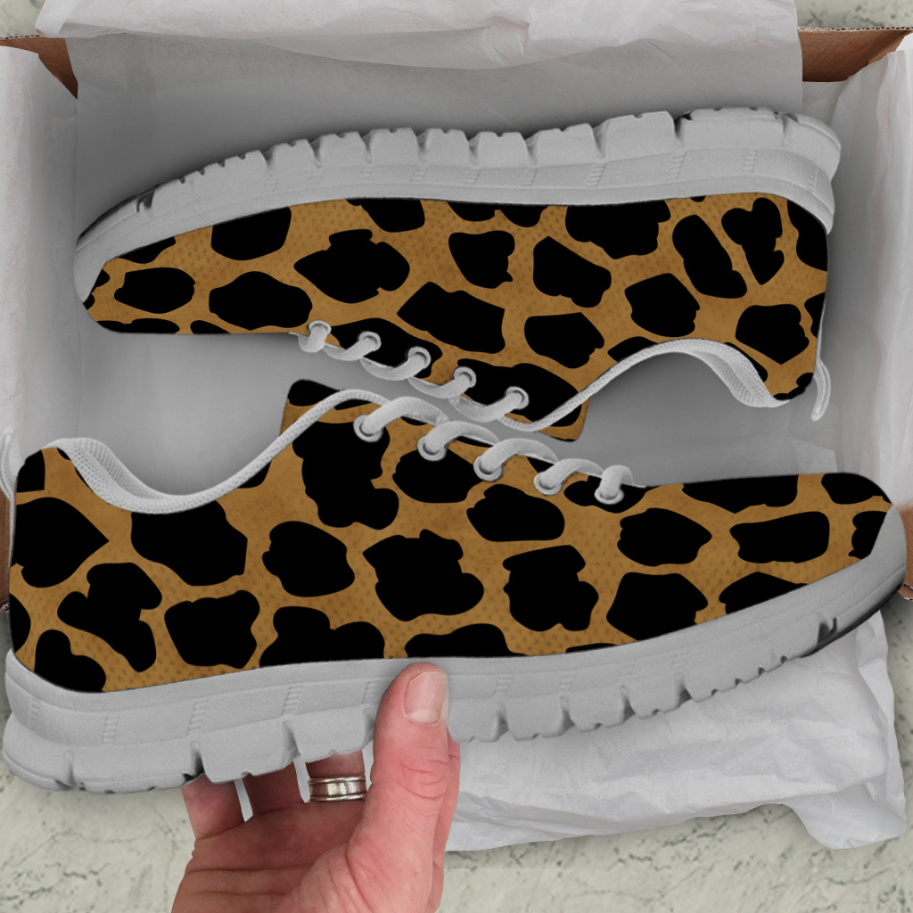 Cheetah Skin Kids Sneakers