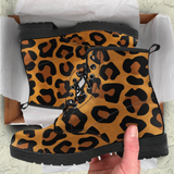 Cheetah Skin Womens Leather Boots