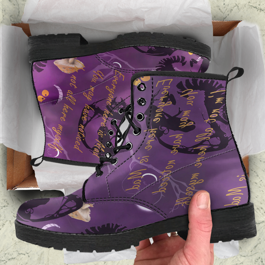 Cheshire Cat Womens Leather Boots