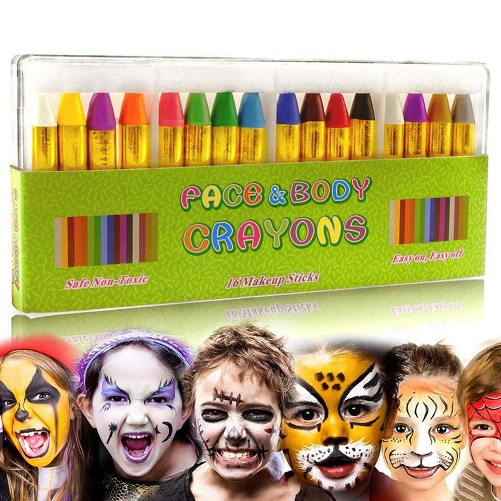 Kids Face Paint Kit, Party Kit, Pastel Crayon, Face and Body Crayons, Face and Body Paint, Face Paint Party Kit, Kids Party Kit, Kids makeup
