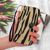 Image of Custom Phone Wallet Available For All Phone Models Animal Print white tiger stripes Phone Wallet - STUDIO 11 COUTURE