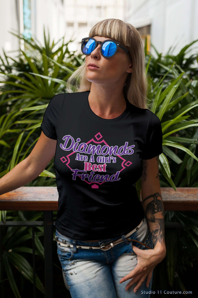 Diamonds Best Friend Ladies Tee