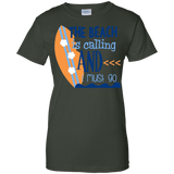 The Beach Is Calling Ladies Tee - STUDIO 11 COUTURE