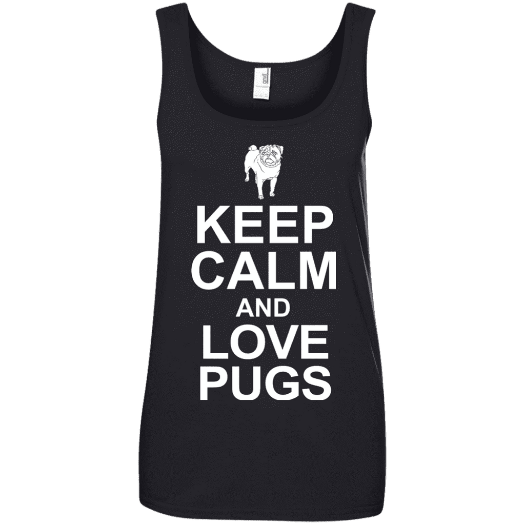 Keep Calm And Love Pugs Ladies Tee - STUDIO 11 COUTURE