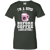 I'm Bitch Before Coffee Ladies Tee - STUDIO 11 COUTURE