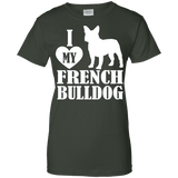 Love French Bulldog Ladies Tee