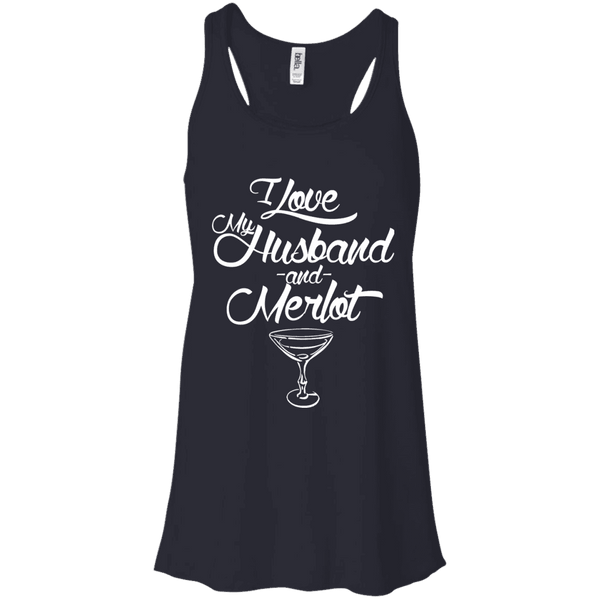 I Love My Husband And Merlot Ladies Tee - STUDIO 11 COUTURE