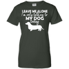 Image of Leave Me Alone Duchshund Ladies Tee - STUDIO 11 COUTURE