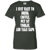 Image of Drink Coffee Pet My Yorkie Ladies Tee