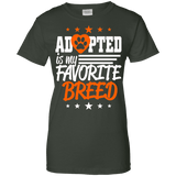 Adopted Is My Favorite Breed Ladies Tee - STUDIO 11 COUTURE