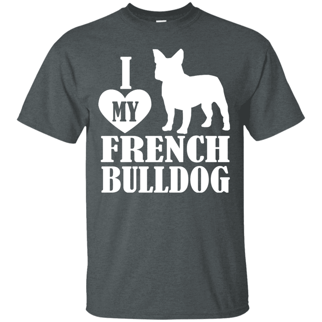 Heart French Bulldog Men Tee - STUDIO 11 COUTURE