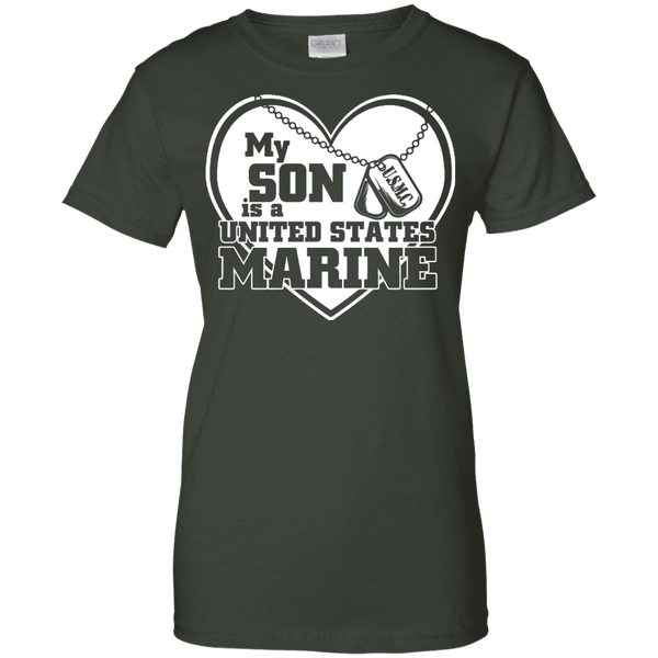 My Son Is A United State Marine Ladies Tee - STUDIO 11 COUTURE