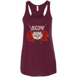 Meow Cat And Roses Ladies Tee