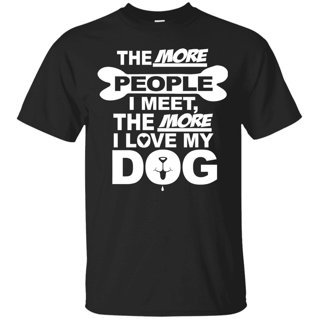 The More People Love Dog Men Tee - STUDIO 11 COUTURE