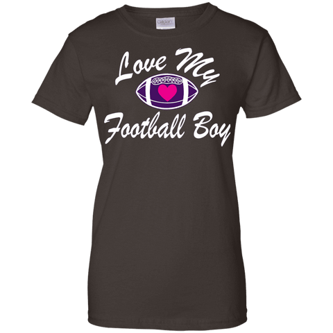 Love My Football Boy Ladies Tee