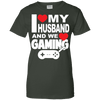 Image of I Love My Husband And Gaming Ladies Tee - STUDIO 11 COUTURE