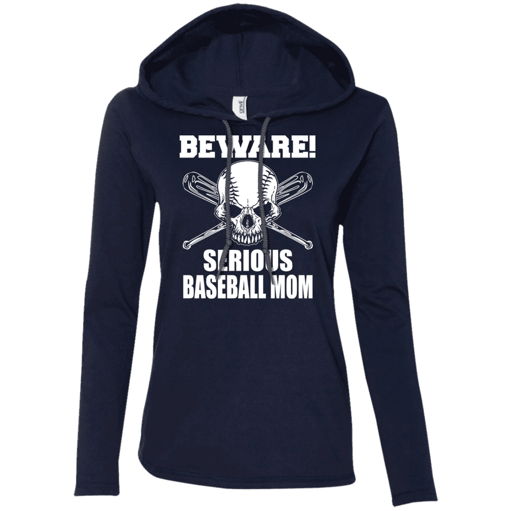 Beware Serious Baseball Mom Ladies Tee - STUDIO 11 COUTURE