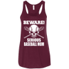 Image of Beware Serious Baseball Mom Ladies Tee - STUDIO 11 COUTURE