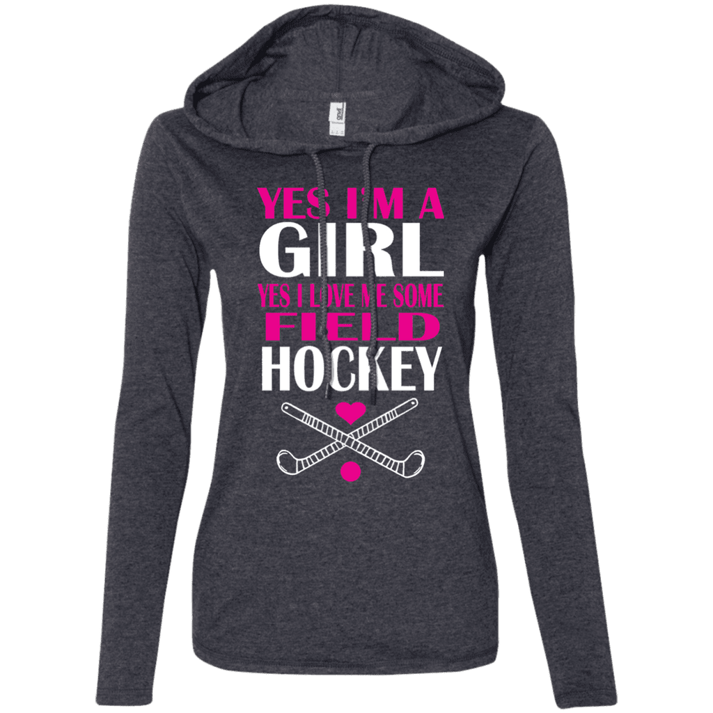 I'm A Girl Love Field Hockey Ladies Tee - STUDIO 11 COUTURE