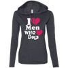 Image of I Love Men Who Loves Dog Ladies Tee - STUDIO 11 COUTURE