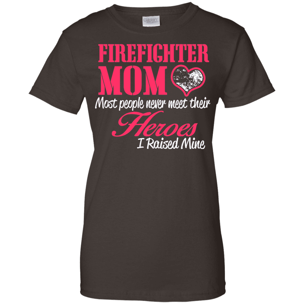 Fire Fighter Mom Ladies Tee