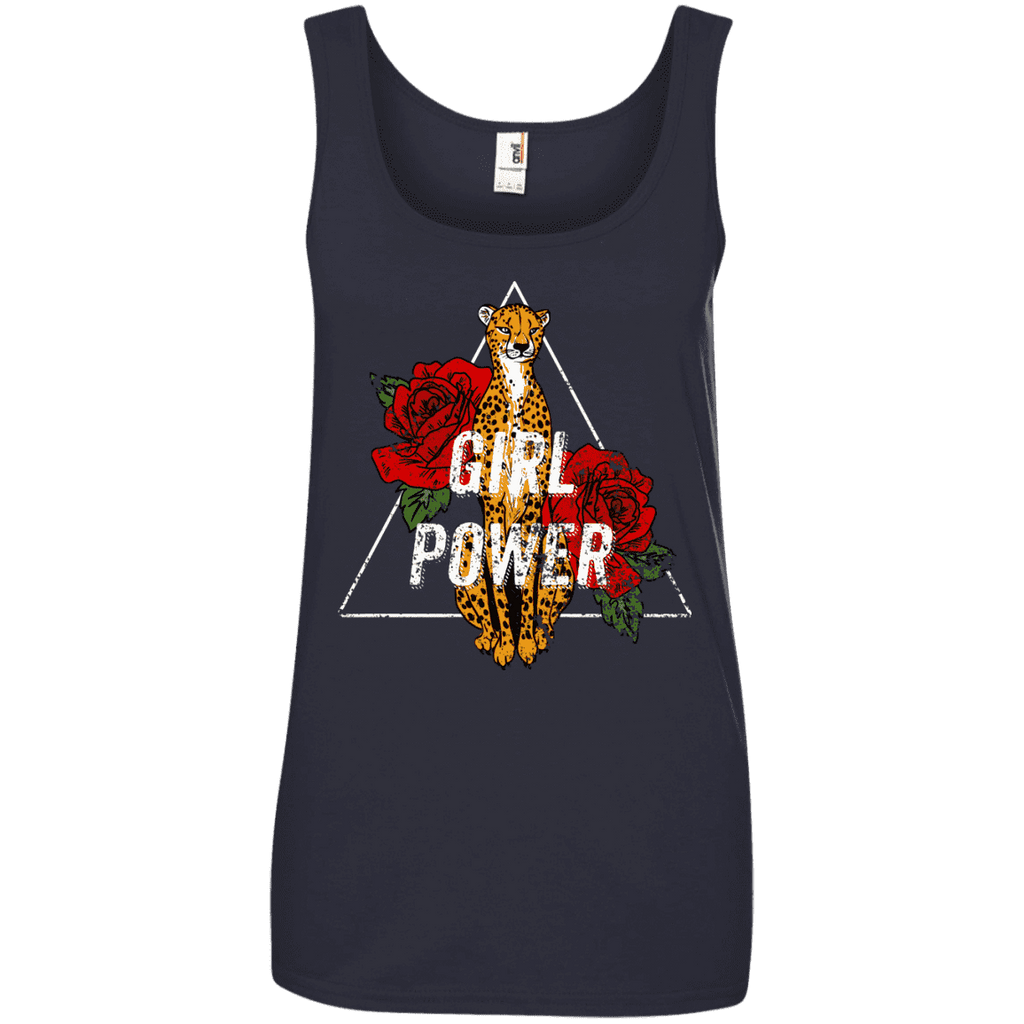 Girl Power Leopard Ladies Tee - STUDIO 11 COUTURE