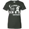 Image of I Love My Poodle Moon Ladies Tee - STUDIO 11 COUTURE