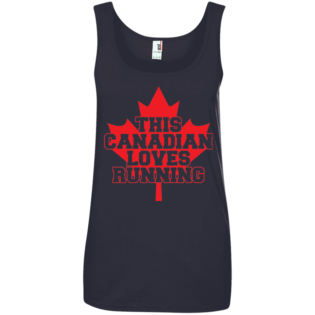 This Canadian Loves Running Ladies Tee - STUDIO 11 COUTURE