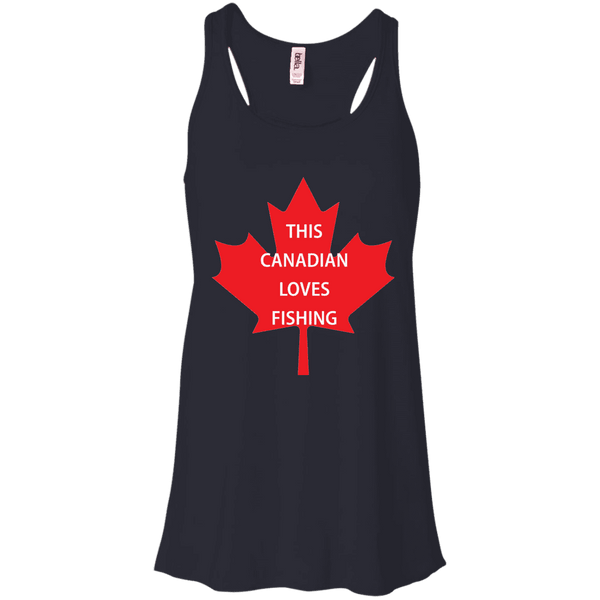Canadian Loves Fishing Ladies Tee